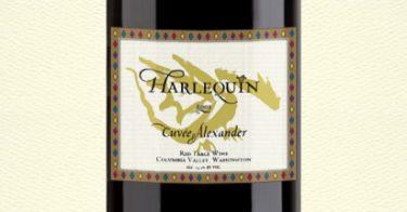 Harlequin wine label design