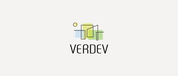 Verdev logo and identity